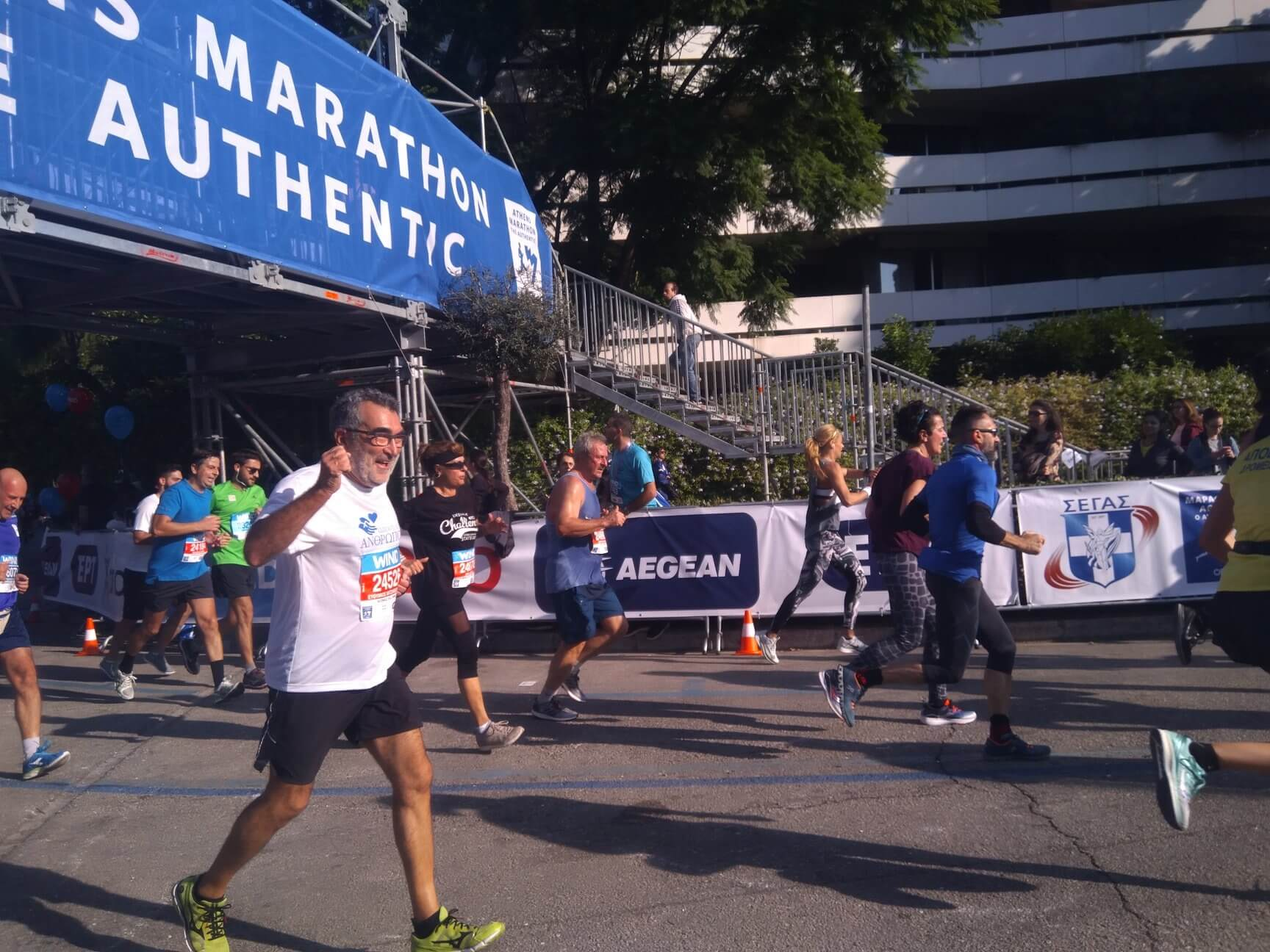 Our volunteers participate in the Athens Classic Marathon