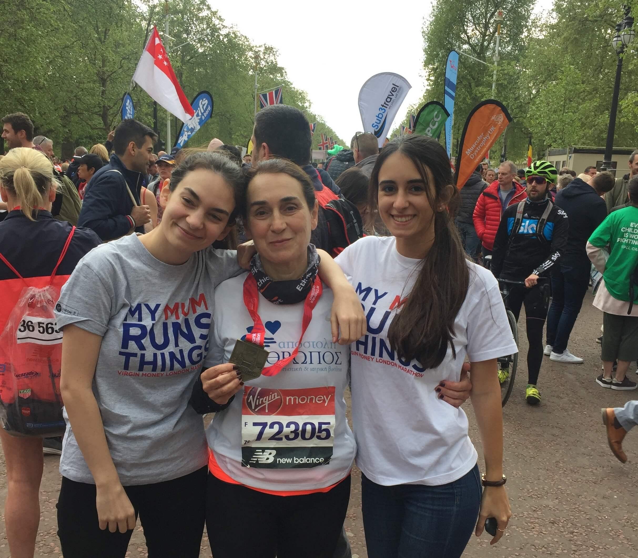 Συμμετοχή εθελόντριας στον Μαραθώνιο του Λονδίνου